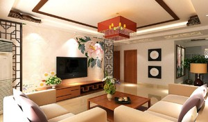 现代中式家装客厅效果图,15平米小客厅装修实景图大全
