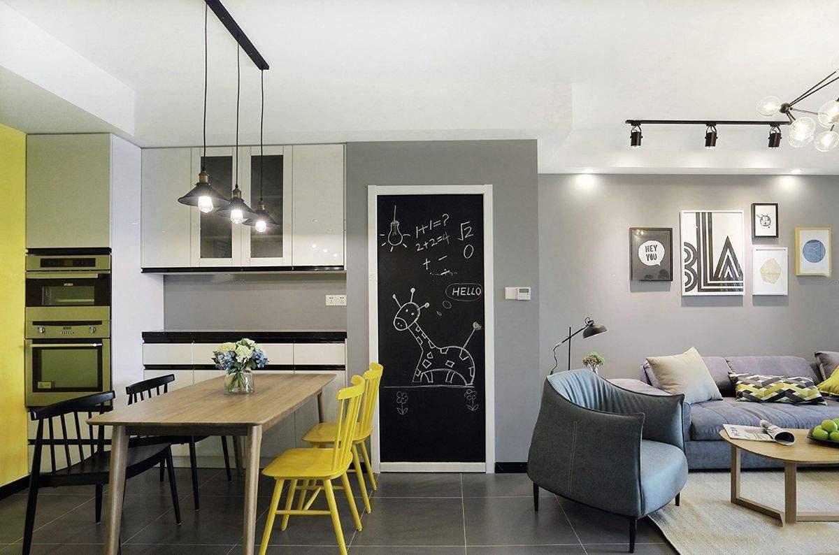 北欧现代客厅装饰风格效果图,小客厅家装效果图大全