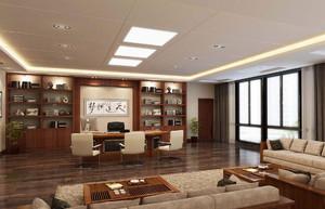 中式办公室装修实景图,200平办公室装修实景图