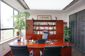 古色古香办公室装修实景图,办公室前台装修实景图