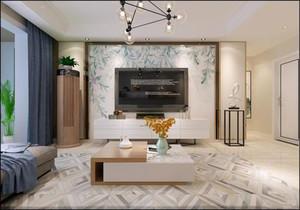 現代客廳裝修設計效果圖大全,現代風格客廳壁紙效果圖