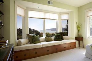 客厅飘窗怎么装修设计,餐厅客厅一体带飘窗装修效果图