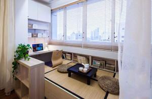 床和榻榻米一体装修效果图,客厅开放式榻榻米书房装修效果图