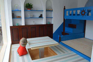 整屋卧室榻榻米装修效果图,小卧室榻榻米上下铺装修效果图