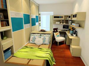 小户型简约榻榻米卧室装修效果图大全,一室一厅公寓榻榻米床装修效果图