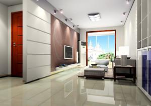 现代简约风格的客厅效果图,客厅刷漆装修实景图大全