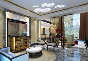现代风格客厅陈设设计效果图,客厅屏风设计装修效果图