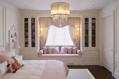 8平米带飘窗小卧室装修图,带圆弧飘窗的卧室装修效果图