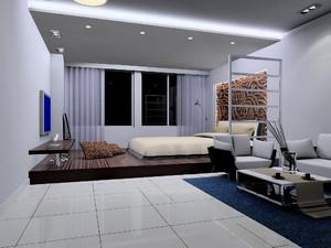 卧室客厅榻榻米装修效果图,开放式客厅榻榻米书房装修效果图欣赏