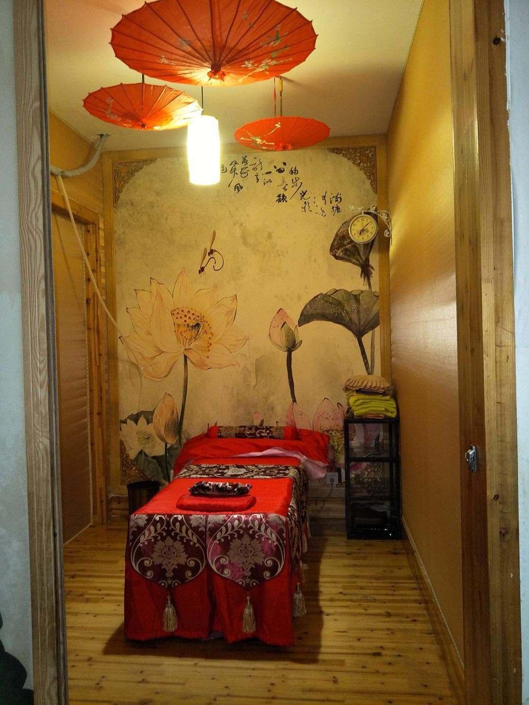 新中式风格美容院装修效果图,隔层美容院装修效果图大全