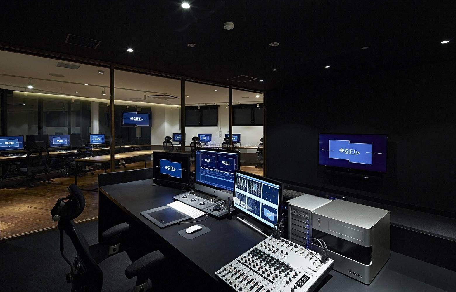 圆形办公室装修实景图,500平办公室装修实景图