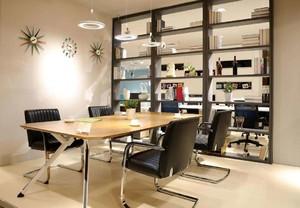 30平总经理办公室装修实景图,科技感特别强办公室装修实景图