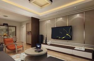 客厅电视背景墙立面图,家装北欧客厅电视墙设计效果图欣赏