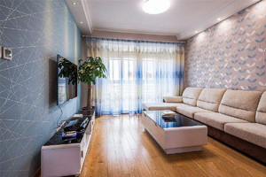 家居客厅墙面装修效果图,现代风格客厅壁纸装修效果图