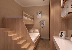 二張床男童榻榻米裝修效果圖,榻榻米上下鋪臥室裝修效果圖