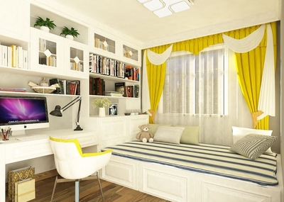 小卧室榻榻米带书房装修效果图,卧室榻榻米个性装修效果图