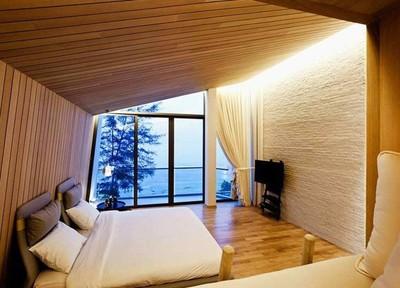 哈尔滨卧室榻榻米装修效果图,装修榻榻米圆床效果图