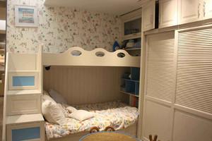 榻榻米上下铺装修效果图,儿童卧榻榻米高低床装修效果图