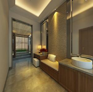 中式风格美容院装修效果图,美容院卫生间装修效果图