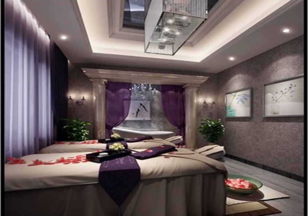 上下两层80平方美容院装修效果图,2020美容院装修效果图欣赏