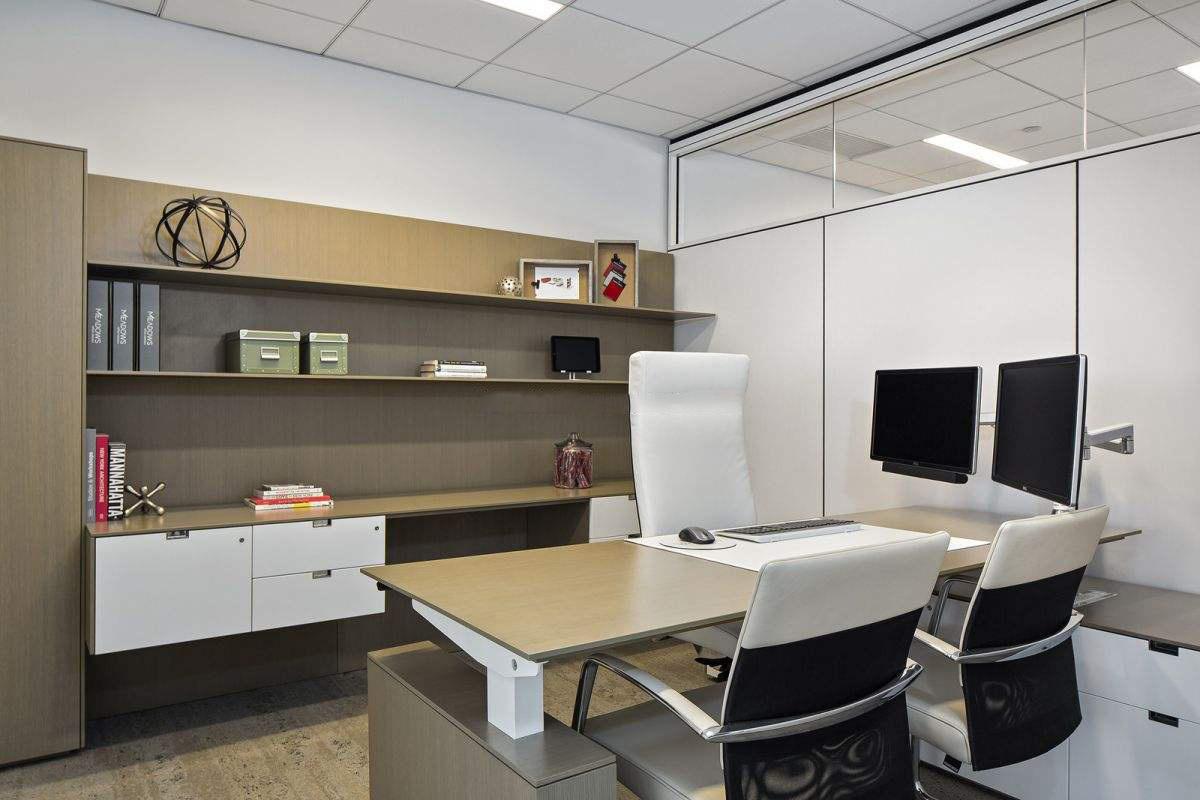 苏州厂房办公室装修,办公室吊顶装修实景图