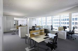 办公室墙面装修实景图,70平办公室装修实景图