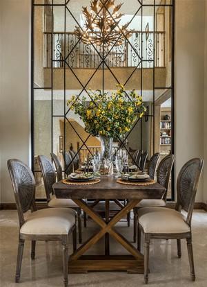 农村家装客厅长形设计效果图,现代美式风格客厅装修效果图