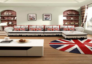 現代美式風格家居客廳裝修效果(guo)圖,現代美式客廳風格裝修效果(guo)圖