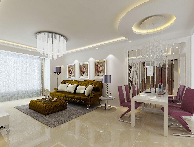 家装客厅连餐厅设计效果图,现代风格客厅连餐厅效果图