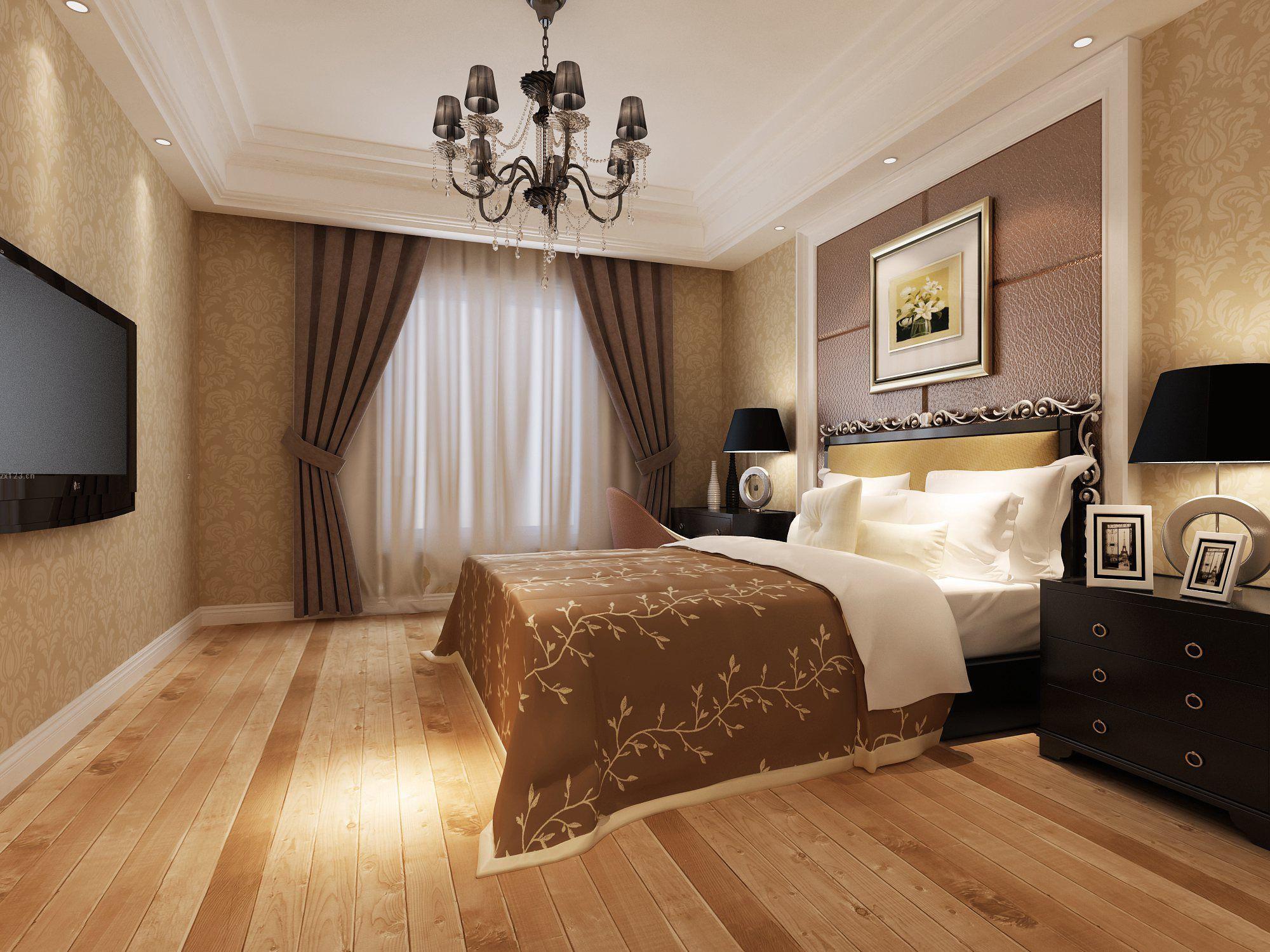 婚房欧式卧室壁纸装修效果图,十平米婚房卧室装修效果图
