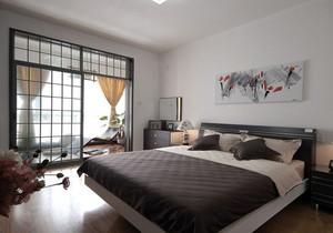 現代中式臥室陽臺效果圖欣賞,臥室外的陽臺裝修效果圖