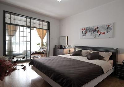 现代中式卧室阳台效果图欣赏,卧室外的阳台装修效果图