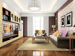 美式现代小户型客厅装修效果图大全,90平米小户型客厅装修效果图