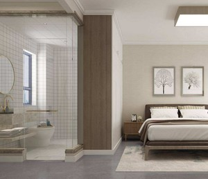 主卧室带浴室装修效果图欣赏