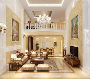 别墅简欧家装客厅设计效果图大全