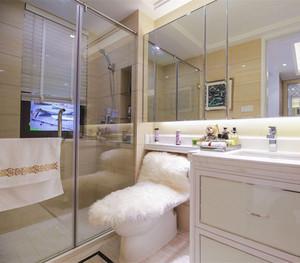 卫生间淋浴房折叠式隔断效果图