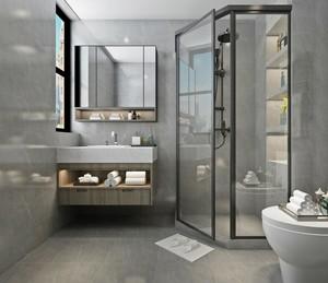 卫生间墙砖地砖对缝效果图