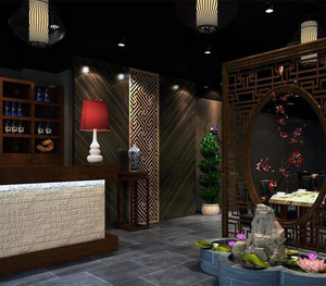 中式餐馆大厅装修设计图
