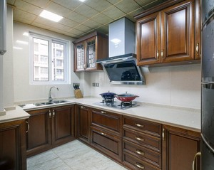 新中式轻奢风格厨房效果图