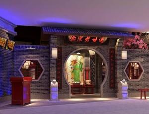 火锅店中式门头创意设计效果图