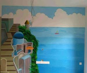 地中海3d电视墙效果图大全