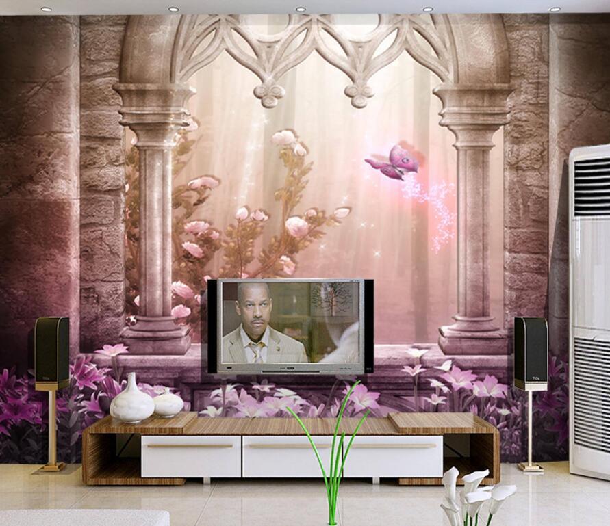 简欧3d电视墙装修效果图大全