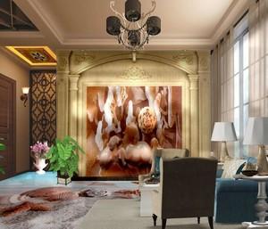 客厅电视墙集成墙面3d效果图大全