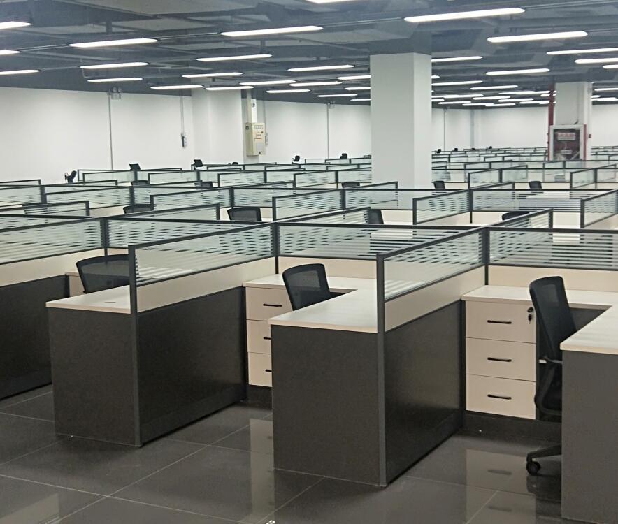 传统办公家具展厅效果图