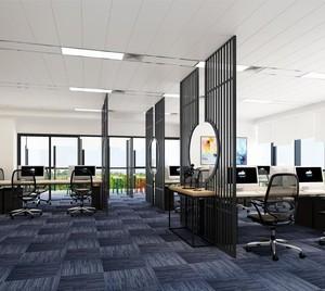 办公家具展厅布置效果图