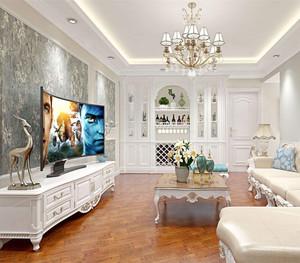欧式客厅墙布装修效果图