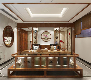 家庭裝修茶樓中式風格
