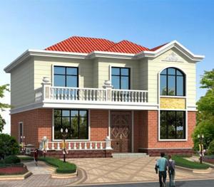农村三层平顶房子外墙瓷砖效果图