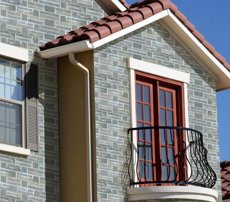 欧式房子外墙贴瓷砖效果图