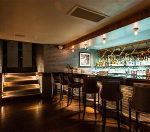 饭店砖砌的吧台装修效果图